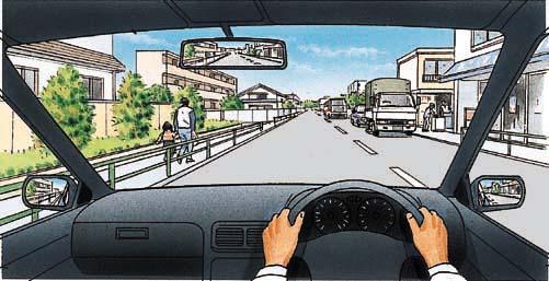 運転免許学科試験の問題。この危険予測の問題なん …